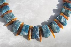 Apatite, Kyanite, + Copper – stones glass + bones