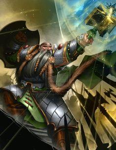 Budran the Dwarf Warrior Priest by BrianFajardo