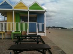 Love these beach huts in Jersey.