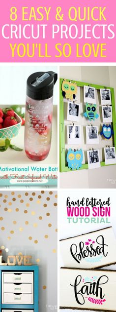 Cricut Projects Amazing Enough To Make For Home Or To Sell - Fun and awesome cricut ideas and diy crafts that will make you so glad that you bought one! Easy and quick diy projects for the home.