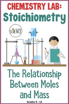 Chemistry Lab: Stoichiometry - Mole and Mass Relationships Chemical Equation, Chemistry Labs, Physical Science, Physics, Students, Teacher, Relationship, Activities, Ideas