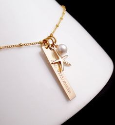 beach inspired gold bar necklace #chipandchisel