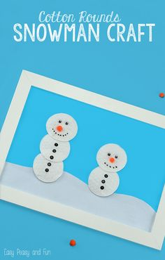 Snowmen Creation Station Snowman Craft - easy snowman craft to do with kids as they work on winter unit!