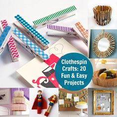 Clothespin Crafts - 20 Fun and Easy Projects