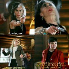 """#OnceUponATime 4x16 """"Poor Unfortunate Soul"""" - Cruella, Regina and Emma"""
