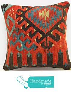 Decorative kilim pillow cover 16x16 inch (40x40 cm) Organic Kilim pillow cover Home Decor Organic Pillow cover Kilim Cushion Cover from Kilimwarehouse http://www.amazon.com/dp/B01CNTX0X4/ref=hnd_sw_r_pi_dp_zzx3wb1HZNPDM #handmadeatamazon
