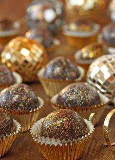 Truffles get dressed up with a dash of shimmer. 10 Sensational Sparkling Wedding Dessert Ideas