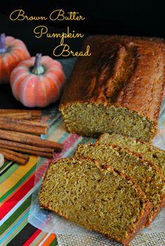 Brown butter pumpkin bread   you-made-that.com