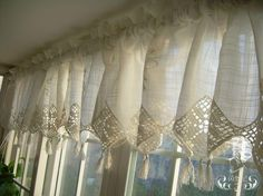 crochet valance curtains - Google Search