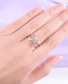 Solid 18k White Gold Women Engagement Wedding Ring Finger Chain Natural Freshwater Pearl Trendy Fine Jewelry
