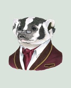 Berkley Illustration features hilarious portraits of fancy animals. The descriptions of each illustration are the best!    Badger print 8x10. $18.00