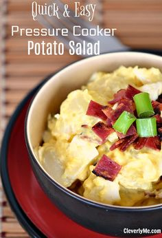 Use your pressure cooker to prepare this Pressure Cooker Quick Potato Salad Recipe, it is easier than you'll get from boiling the potatoes. Pressure Cooker Potatoes, Instant Pot Pressure Cooker, Pressure Cooker Recipes, Slow Cooker, Best Instant Pot Recipe, How To Cook Steak, Tasty Dishes, Side Dishes, Crockpot Recipes