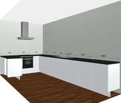 Glossy Grey Kitchen With Tall Wall Unitsperfect Large Kitchen Delectable Kitchen Design Planner Free Design Inspiration