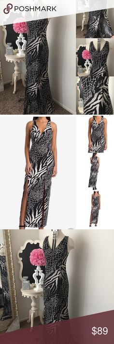 🌺 MKC - Marisa Kenson  Animal Print Maxi Dress 🌺 MKC - Marisa Kenson Collection  Beautiful Animal Print Maxi Dress  -  Sleeveless Style -  V- Front Neckline - Two Front High Slits - Back Zipper Dress Is Lined  $129 - New w/ Tags. (Reg: $169)  Size: Sz 6 & Sz 10  Fabric : 97% Polyester- 3% Spandex 🌺 Accessories Not Included But Are also for Sale  Please Check out my Other Items in my GIRLe B Posh Shoppe'  Like us on FB   www.facebook.com/girleboutique Thanks For Looking & Always Let your…