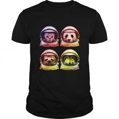 Awesome Tee Astro cat sloth panda wolf Shirts & Tees