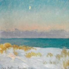 Carl Locher - Sand Dunes With Rising Moon, Skagen Beach
