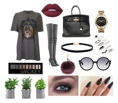 """""""Cool Style"""" by weirdobby on Polyvore featuring moda, Givenchy, Tamara Mellon, Hermès, Lime Crime, MICHAEL Michael Kors, Topshop, Tom Ford e Forever 21"""