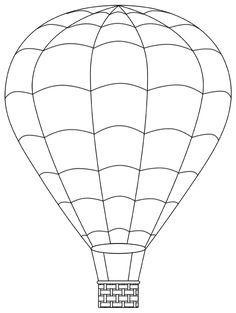 Hot Air Balloon Template Balloons As Requested Stained Glass Projects, Stained Glass Patterns, Hot Air Balloon Clipart, Hot Air Balloons, Hot Air Balloon Cake, Balloon Template, Digi Stamps, Colouring Pages, Art Lessons