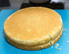 Bizcocho para torta de 3 pisos, un bizcocho de buen sabor y sencillo de hacer.