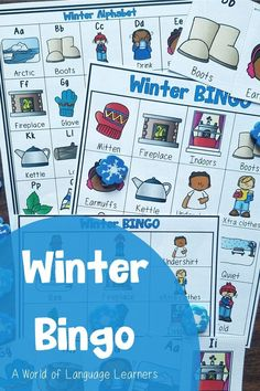 Bingo is a fun way for students to practice winter vocabulary. Kids can review words from A-Z using pictures and playing a fun game. This is also an interactive way to review letter sounds. This is great for ELLs. #winter #esl #bingo Alphabet Bingo, Online Music Lessons, Bingo Board, Teaching Phonics, Calling Cards, Letter Sounds, Homeschool, Curriculum, Student Engagement