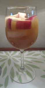 Caramel apple sangria is a cocktail with fun fall flavors. This fruity drink tastes like an adult caramel apple.