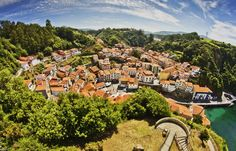Place: Cudillero (tiltshift style) / Asturias, Spain. Photo by: Angel Sanchez Garcia (flickr)