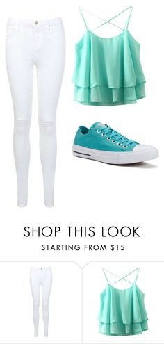 """cute"" by lc112439 on Polyvore featuring Miss Selfridge and Converse"