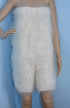 Hand Knit Cable Mohair Pants overalls bibs Sweater от DTolik