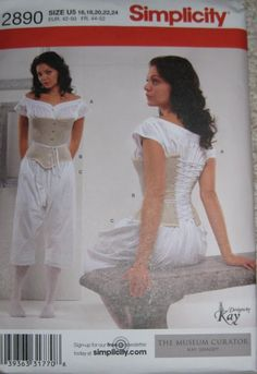 Simplicity 2890 Halloween Costume Victorian by PeoplePackages, $6.00