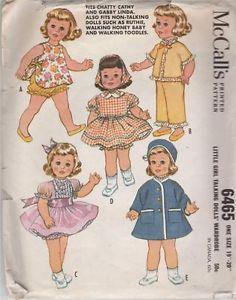 McCalls-6465-1962-Little-Girl-Talking-Doll-Wardrobe-19-20