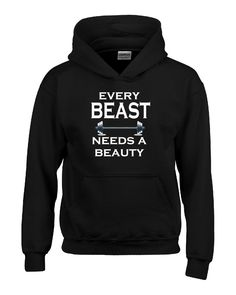 Every Beast Needs A Beauty Funny Humorous Couples Gift - Hoodie – Cool Jerseys
