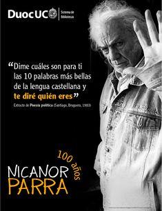El antipoeta cumple hoy 100 años. En San Fabián de Alico, 5 de septiembre de 1914, nace el chileno Nicanor Parra Sandoval. ¡Feliz cumpleaños Nicanor Parra! #Parra100 #nicanorparra