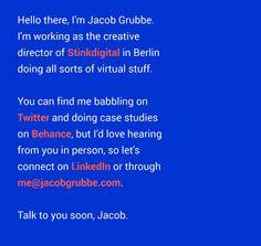 Jacob Grubbe - Creative Minimal Web Design
