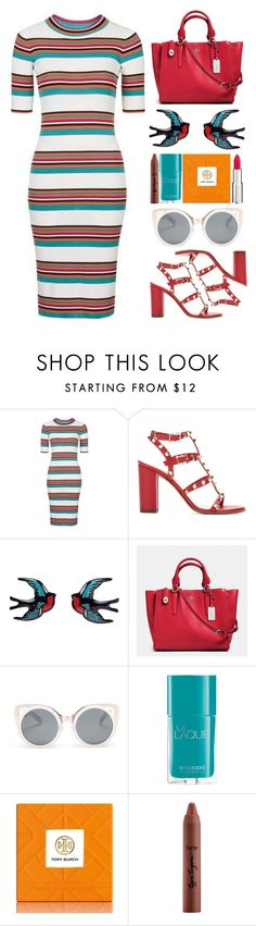 """4/5/2016"" by hayleypiper ❤ liked on Polyvore featuring Topshop, Valentino, Coach, Erdem, Bourjois, Tory Burch, tarte and Givenchy"