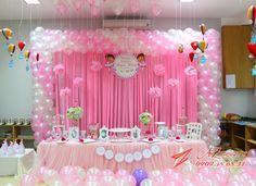 Dora the explore birthday 1st Birthday Party Decorations, Graduation Party Decor, Baby Shower Decorations, Baby Shower Balloons, Birthday Balloons, 1st Birthday Photoshoot, Unicorn Themed Birthday, Birthday Frames, Backdrops For Parties