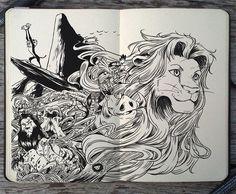 #142 The Lion King by 365-DaysOfDoodles on deviantART
