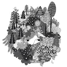 Her hair was the forest. Laura Barocio @Laura Barocio
