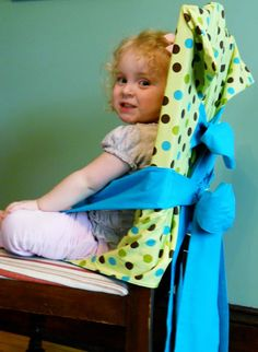 DIY Tie Hair (portable fabric high chair)
