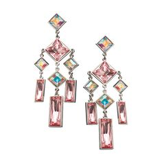Bloom Lola Earrings ($199) ❤ liked on Polyvore featuring jewelry, earrings, cinderella, orecchini, fashion jewelryearrings, iridescent jewelry, geometric jewelry, pink swarovski crystal earrings, pink earrings and iridescent earrings