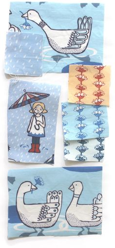 Fun with Spoonflower: Rainy Day Collection Cathy Heck studio