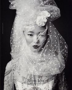 #reemacra 2007 tear sheet // polka dot veil