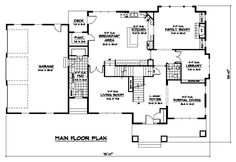 Colonial Craftsman European Traditional Level One of Plan 42076