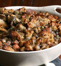 Mushroom and Sausage Stuffing. Get the recipe via @PureWow