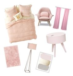 """""""PINK ROOM"""" by natasyanab on Polyvore featuring interior, interiors, interior design, home, home decor, interior decorating, Nordstrom Rack, JAlexander and Bloomingville"""