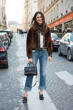 31 Winter Outfit Ideas - Your Daily #OOTD Inspiration for This Winter: Mink-Look Jacket and Jeans