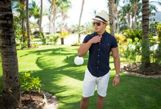 Men's Beach Outfit Idea To a Resort In Cancun, Mexico