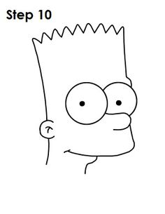 How to Draw Bart Simpson Simpsons Tattoo, Simpsons Drawings, Easy Cartoon Drawings, Dark Drawings, Drawing Cartoon Characters, Mini Drawings, Doodle Drawings, Art Drawings Sketches, Dessiner Homer Simpson