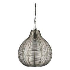 Lámpara de techo de diseño en metal con rejilla Balú