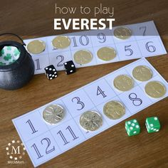 How to play the game Everest - Trend Unterhaltsame Ideen 2019 Family Party Games, Christmas Games For Family, Fun Party Games, Christmas Party Games, Family Game Night, Night Kids, Dice Games, Activity Games, Math Games