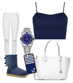 """Untitled #35"" by daylajd on Polyvore featuring River Island, WearAll, UGG Australia, Michael Kors, Rolex and Casetify"